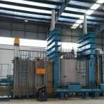 Three chambers continuous vacuum brazing furnace