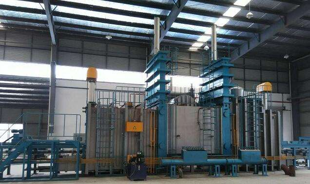 Three chambers vacuum continuous brazing furnace