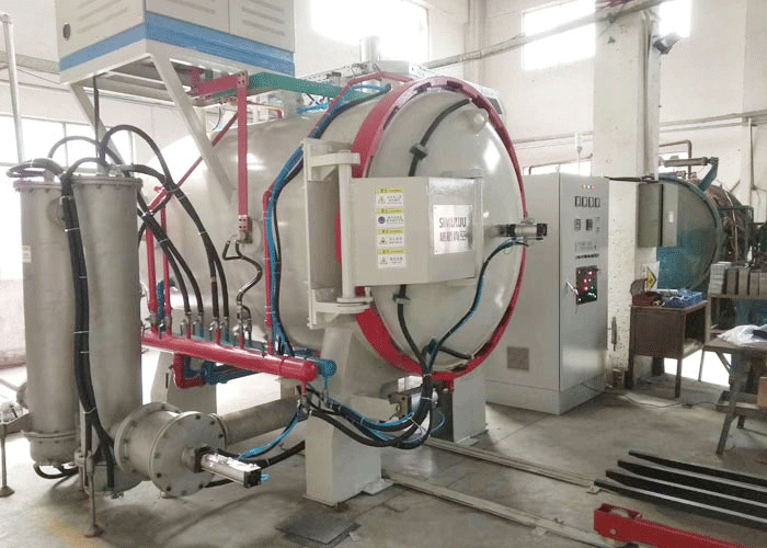 Controlled atmosphere vacuum sintering furnace