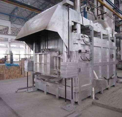 Rectangular aluminum smelting furnace