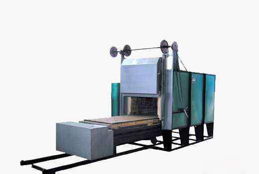 Trolley-type resistance furnace