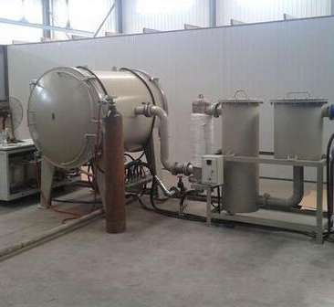 Experimental vacuum melting furnace