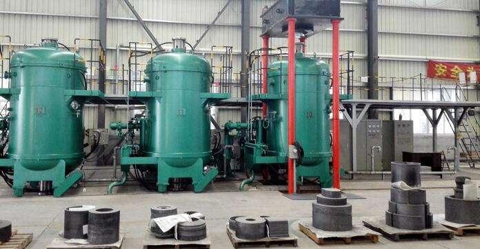 High pressure vacuum sintering furnace