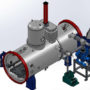 Two Chamber Vacuum Gas Quenching Furnace