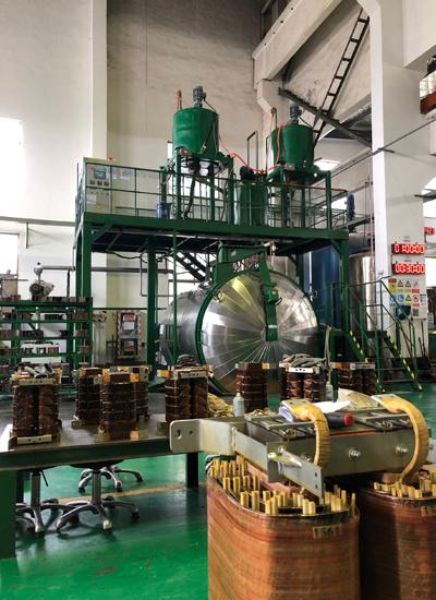 Static mixing vacuum pressure pouring equipment