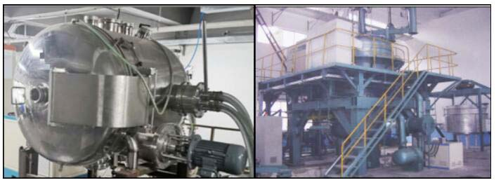 Centrifugal casting cold crucible suspension melting equipment