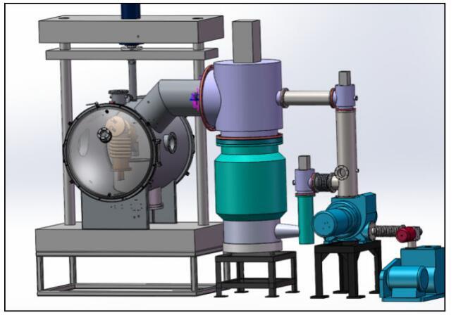Pressure casting cold crucible suspension melting equipment